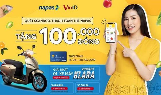 """""""Quét Scan&Go, thanh toán thẻ NAPAS"""" tại Vinmart trúng xe máy điện VinFast Klara"""