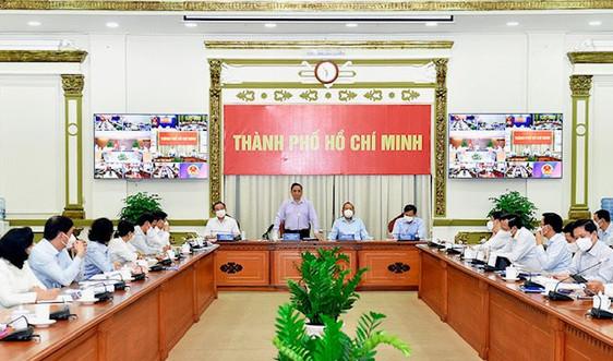 Thủ tướng chủ trì họp trực tuyến với TP. Hồ Chí Minh và 7 tỉnh về thực hiện mục tiêu kép